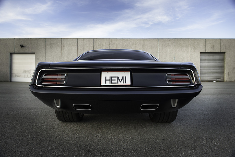 Hemi Cuda by Porsager rear