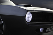 Hemi Cuda by Porsager front headlight
