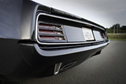 Hemi Cuda by Porsager rear closeup